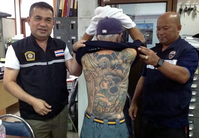 Mafioso japonês foragido foi detido por culpa das tatuagens