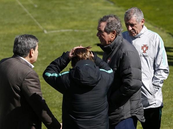 Paulinho e Sérgio Oliveira nos 35 de Fernando Santos