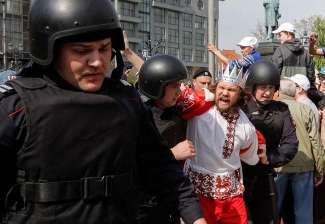 Líder da oposição russa preso em Moscovo