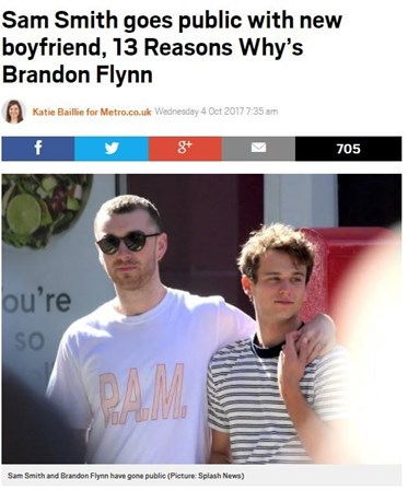 Sam Smith e Brandon Flynn