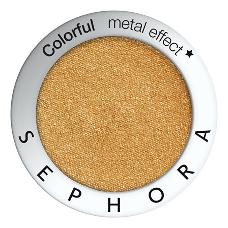Sombra dourada com efeito lantejoulas da Sephora Collection. PVP: €7